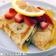 Paleo Crepes With Lemon Curd + Strawberries