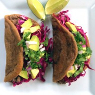 Plantain Tacos with Purple Slaw