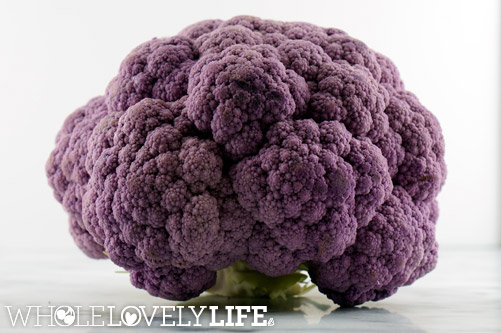 Purple Cauliflower Soup With Garlic Sage Olive Oil - Whole Lovely Life