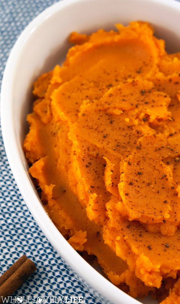 Mashed Maple Sweet Potatoes - Whole Lovely Life