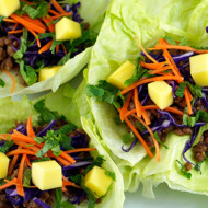Sweet + Tangy Pork Lettuce Wraps