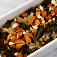 Sweet + Savory Kale With Maple Almonds