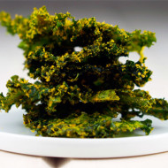 Cheesy Turmeric + Garlic Kale Chips