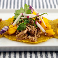 Pulled Pork Plantain Tortilla Tacos
