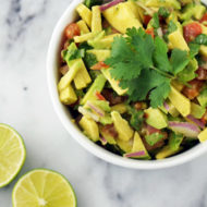 Simple Chopped Guacamole