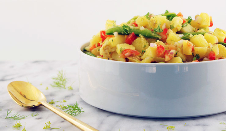 Herb Potato Salad (Mayo Free)