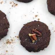 Salted Chocolate Pecan Cake Cookies