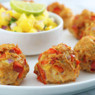 Southwest Turkey Meatballs with Mango Salsa