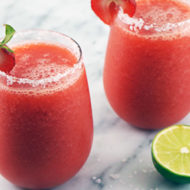 """Healthier"" Strawberry Margarita with 1915 Organic Cold Press Juice"