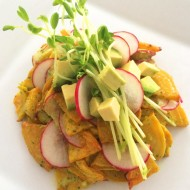 Roasted Golden Beet Salad with Citrus Cilantro Dressing