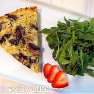 Leek, Mushroom + Basil Quiche with Jicama Crust