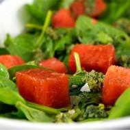 Spinach Watermelon Pesto Salad