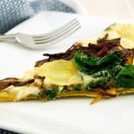 Spinach Artichoke Pizza With Cauliflower Cream