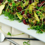 Arugula Avocado Salad With Cherry Vinaigrette