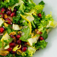 Curly Endive Salad with Pomegranate, Pears and Pistachios