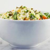 Asian Cauliflower Rice Chop Salad
