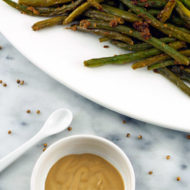 Roasted Green Beans With Dijon Coriander Butter