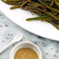 Roasted Green Beans With Dijon Coriander Butter