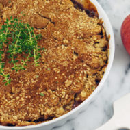 Lemon Thyme Apple Crisp