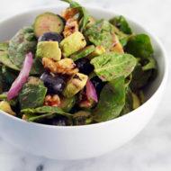 Blueberry Avocado Spinach Salad